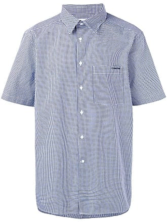 Calvin Klein Camisa xadrez mangas curtas - Azul