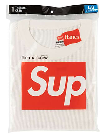 SUPREME Hanes Thermal Crew T-Shirt FW 18