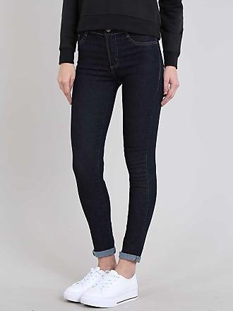 Sawary Calça Jeans Feminina Hot Pant Sawary Skinny Azul Escuro