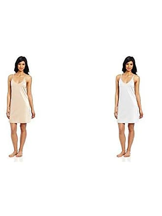 Vanity Fair Womens Spinslip 18 Inch 10158, Damask Neutral/Star White, 34 Bust (18 Length)