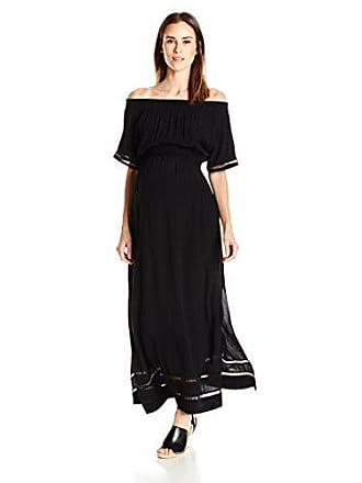 95eb9187b46 Ripe Maternity Womens Maternity Cold Shoulder Maxi Dress