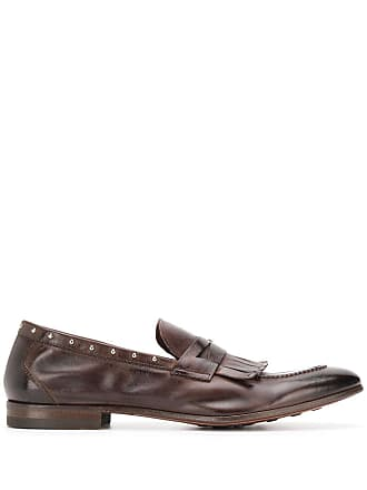 Henderson Baracco studded leather loafers - Marrom