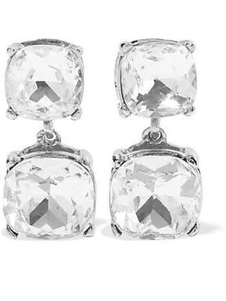 Kenneth Jay Lane Kenneth Jay Lane Woman Silver-tone Crystal Clip Earrings Silver Size