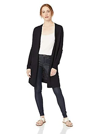 Daily Ritual Womens Lightweight Duster Cardigan, Black, Small