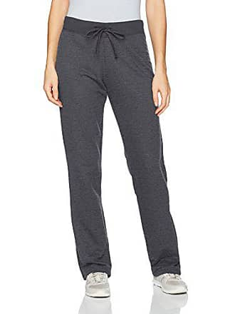 Fruit Of The Loom Womens Essentials Live in Open Bottom Pant, Charcoal Heather, Large