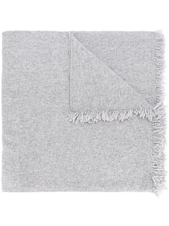 Pringle Of Scotland fringed trim lightweight scarf - Cinza