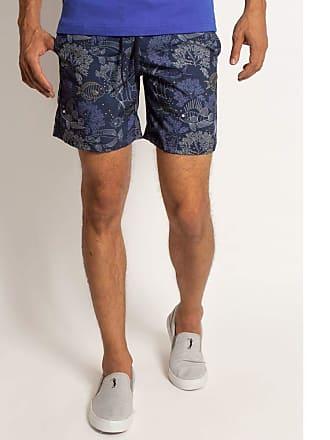 Aleatory Shorts Aleatory Estampado North-Azul Marinho-P