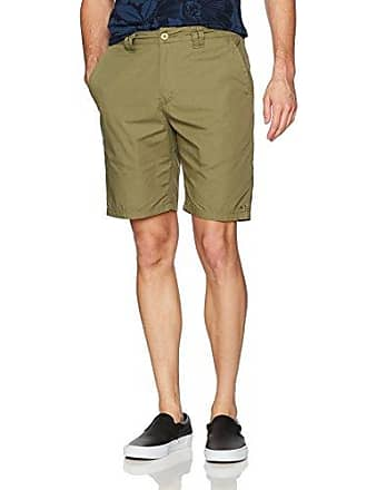 O'Neill Mens 20 Inch Outseam Classic Walk Short, Olive/Contact, 36