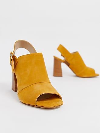 f83c5f3e3090 Aldo Elalyan buckle block heeled leather sandals in mustard - Yellow
