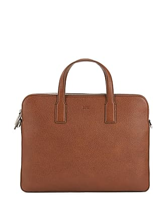 3bab009da05 BOSS Double document case in grainy Italian leather