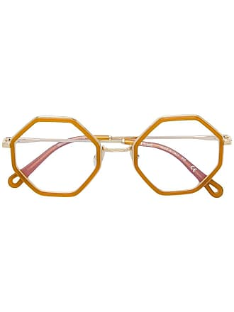 Chloé octagonal frame glasses - Yellow