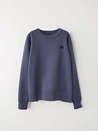 Acne Studios Fairview Face Denim Blue Regular fit sweatshirt