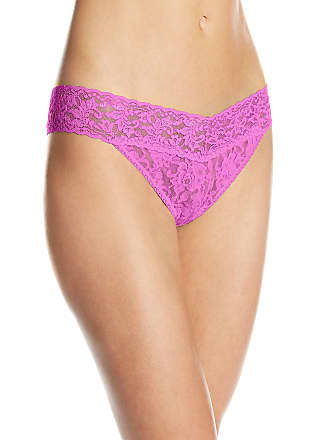 2bc2b9bb23ed Hanky Panky Womens Signature Lace Original Rise Thong Panty, Passionate  Pink, One Size