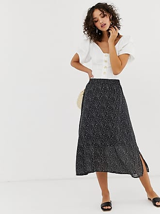 77c510cdab0a Vero Moda Aware micro polka dot midi skirt