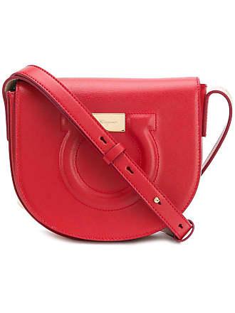 9eeb65e27a74f Salvatore Ferragamo Bolsa transversal com textura Gancio - Vermelho