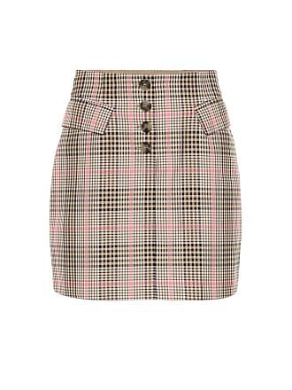 04d615447893fe Baum Und Pferdgarten Shani checked cotton-blend miniskirt