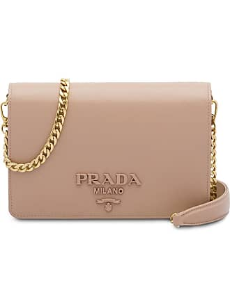 Prada Galleria Saffiano Leather Shoulder Bag Pink. Prada Logo Shoulder Bag  Pink. Prada Handbags Up To 60 Stylight eaf0fb1ca6719