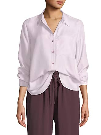 3a4e0204d Eileen Fisher Petite Washed Silk Habutai Long-Sleeve Button-Front Blouse