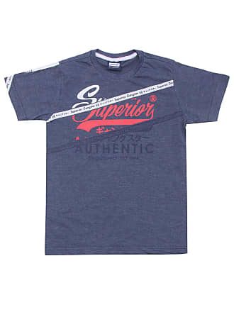 Gangster Camiseta Gangster Menino Escrita Azul