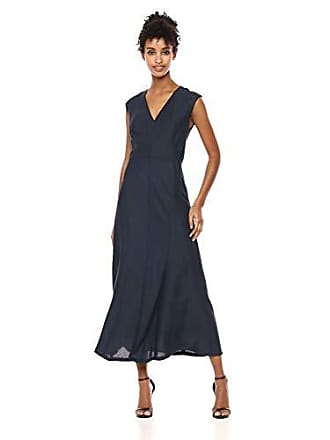 Anne Klein Womens Sleeveless MIDI FIT & Flare, Marine Blue, 8