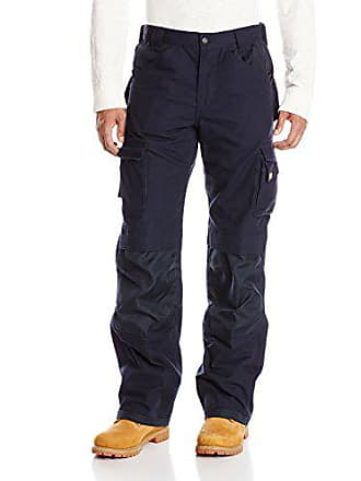 CAT Mens Big and Tall Cargo Pant with Holster Pockets, Navy, 34Wx36L
