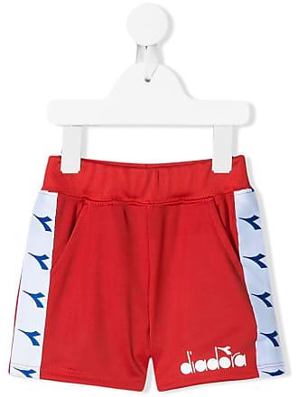 Diadora Short com logo - Vermelho