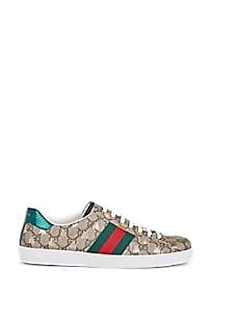87b5d98883b Gucci Mens New Ace Canvas Sneakers - Beige