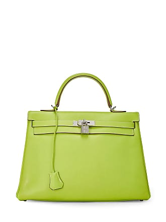 Hermès Candy Kelly Retourne 35 Satchel Bag, Kiwi