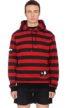 McQ by Alexander McQueen Monster Stripe Hoodie - Amp Red