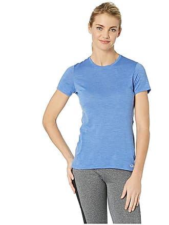 Icebreaker Amplify Merino Short Sleeve Low Crewe (Cove Heather) Womens Clothing