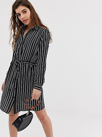 Jacqueline de Yong stripe tie waist shirt dress - Multi