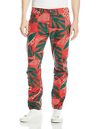 G-Star Mens 5622 Elwood X25 Jeans by Pharrell Williams in Camafrican, Pompeian Red/Burned Red/Algreen Allover, 36x32
