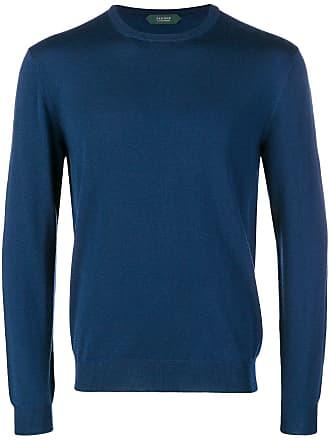 Zanone Suéter decote redondo - Azul