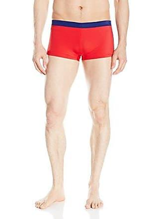 7dcda86adebcc Emporio Armani EA7 Mens Color Block Stripe Swim Trunk, Red, Medium/EU 50