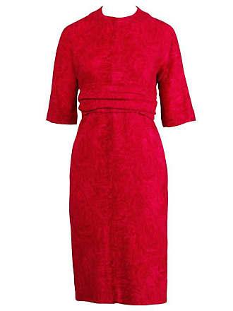 e0c1984aaad1 Lord & Taylor Donald Brooks 1960s Vintage Pink + Fuchsia Wool Wiggle Dress