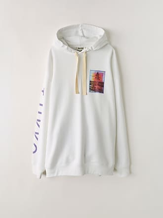 f8ac8c0db1 Acne Studios FN-MN-SWEA000039 White Printed hooded sweatshirt