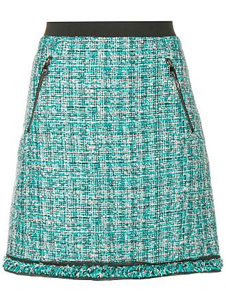 Karl Lagerfeld Saia tweed evasê - Azul
