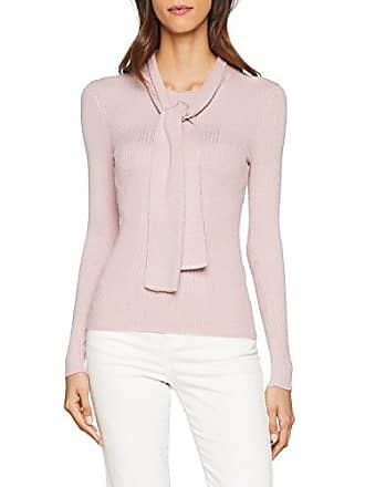 c9eed7bc8f59b Lost Ink. Tie Neck Ribbed Jumper, Pull Femme, Beige (Blush),