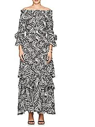 b0c24dfb10 Faith Connexion Womens Zebra-Print Crepe Maxi Dress - White Size XS
