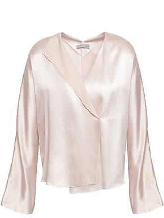 Vince Vince. Woman Wrap-effect Silk-crepe Blouse Off-white Size L