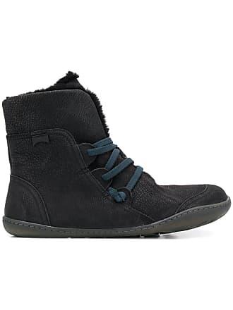 Camper fuzzy ankle boots - Preto
