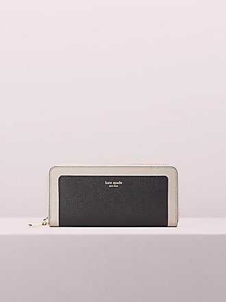 Kate Spade New York Margaux Slim Continental Wallet, Black/Warm Taupe