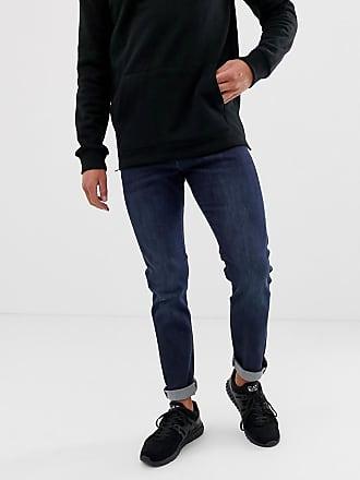 Armani J13 slim fit mid dark wash jeans - Blue