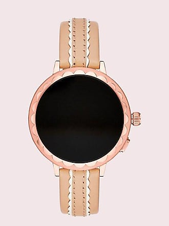 Kate Spade New York Scallop Vachetta Leather Smartwatch Strap, Vachetta