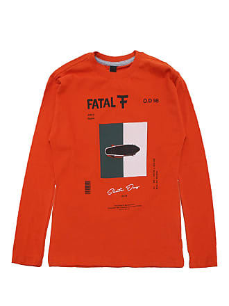 Fatal Surf Camiseta Fatal Menino Frontal Laranja