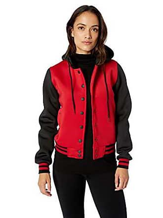 Yoki Womens Scuba Bomber Jacket, RED, XL