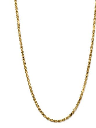 PalmBeach Jewelry Diamond-Cut Rope Chain in 18k Yellow Gold over Sterling Silver 20 (2mm)