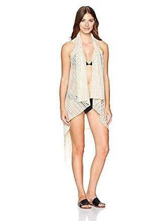 Steve Madden Womens Geo Lace Vest Cover Up, ivory, Total Units