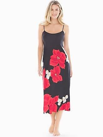 Natori Charmeuse Nightgown, Black, Size XS, from Soma