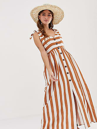 20885b74cc3 Asos Petite ASOS DESIGN Petite button through smock maxi dress in stripe
